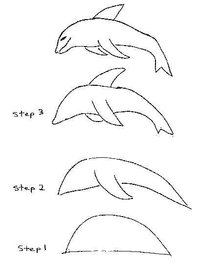 how to draw a dolphin photo